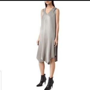 NWOT $230 ALL SAINTS Blaze Silver Versatile Dress